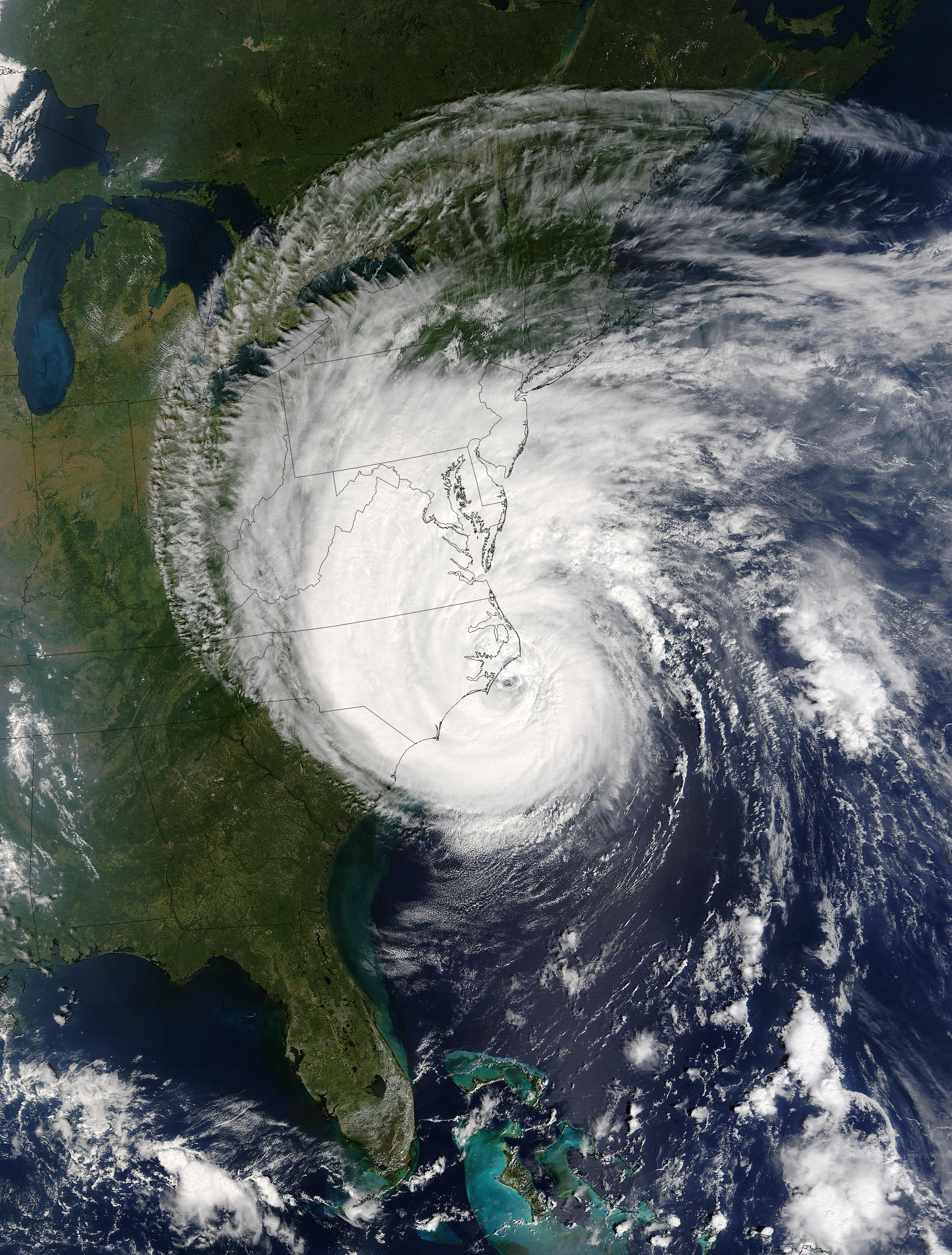 Hurricane Isabel over the US East Coast - related image preview