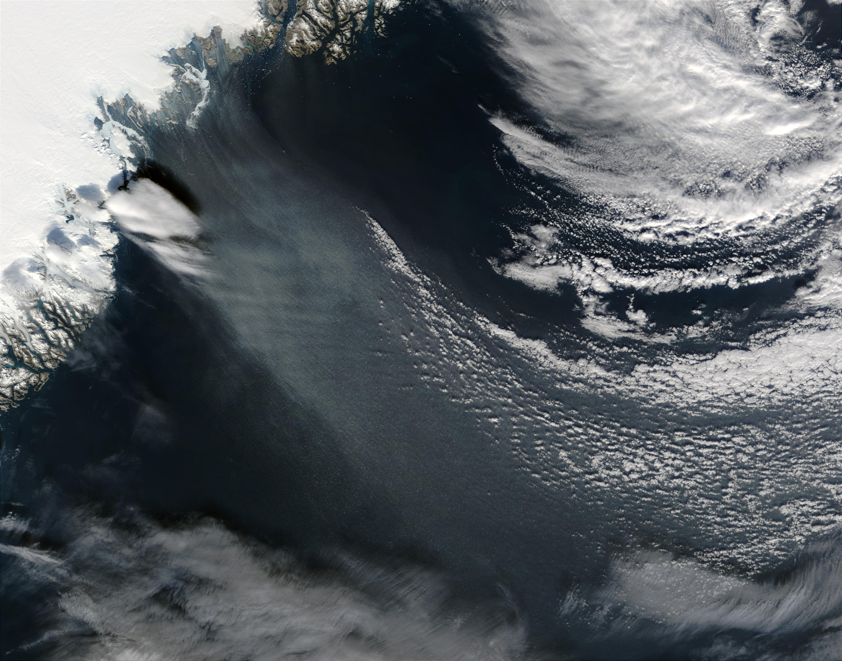 Windblown ice off southeast Greenland - related image preview