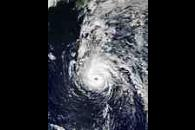 Hurricane Juan north of Bermuda