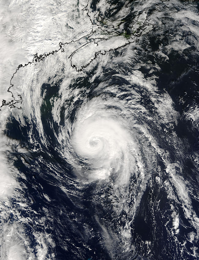 Hurricane Juan south of Nova Scotia - related image preview