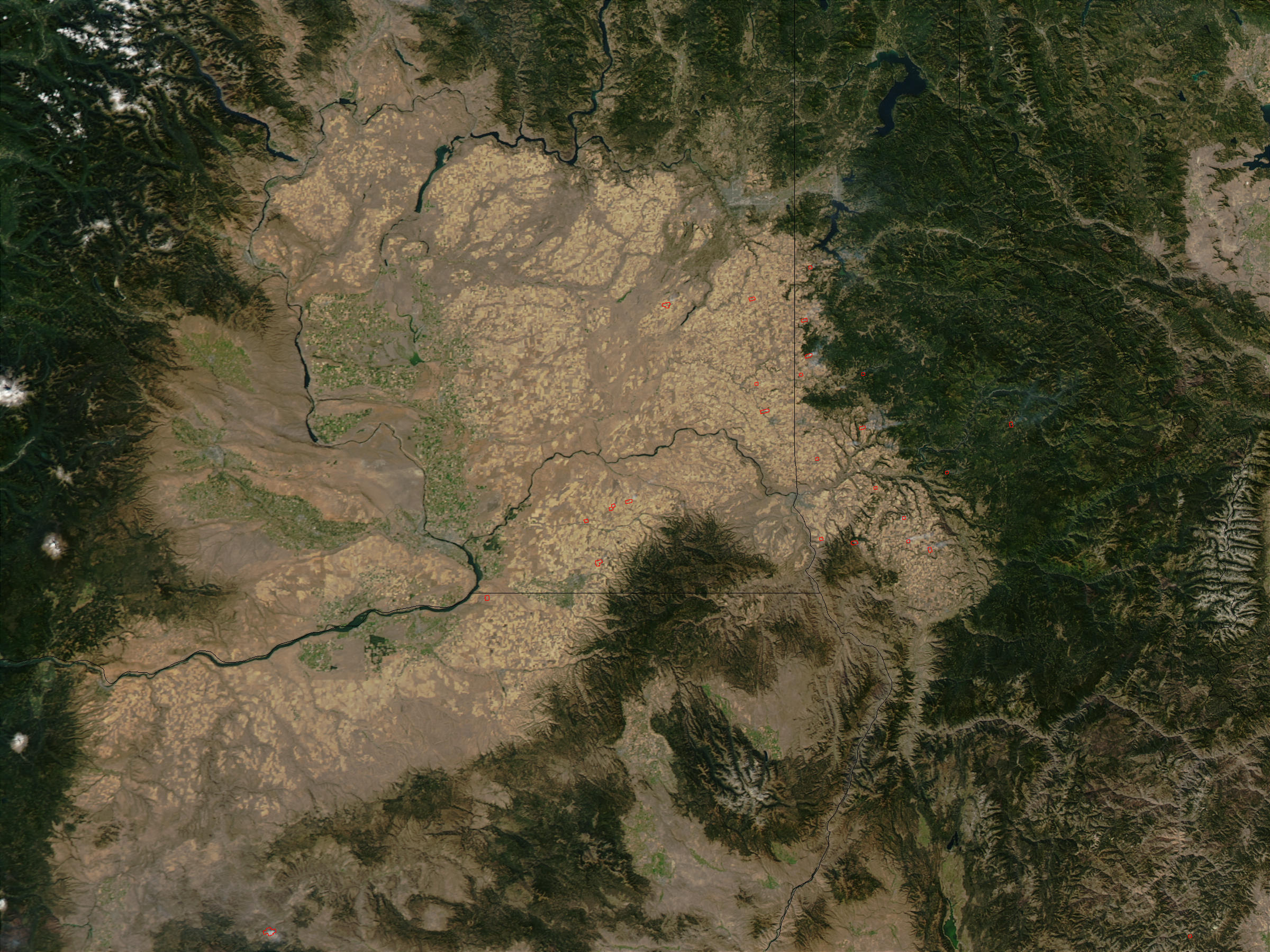 Wheat stubble fires in eastern Washington and Idaho - related image preview