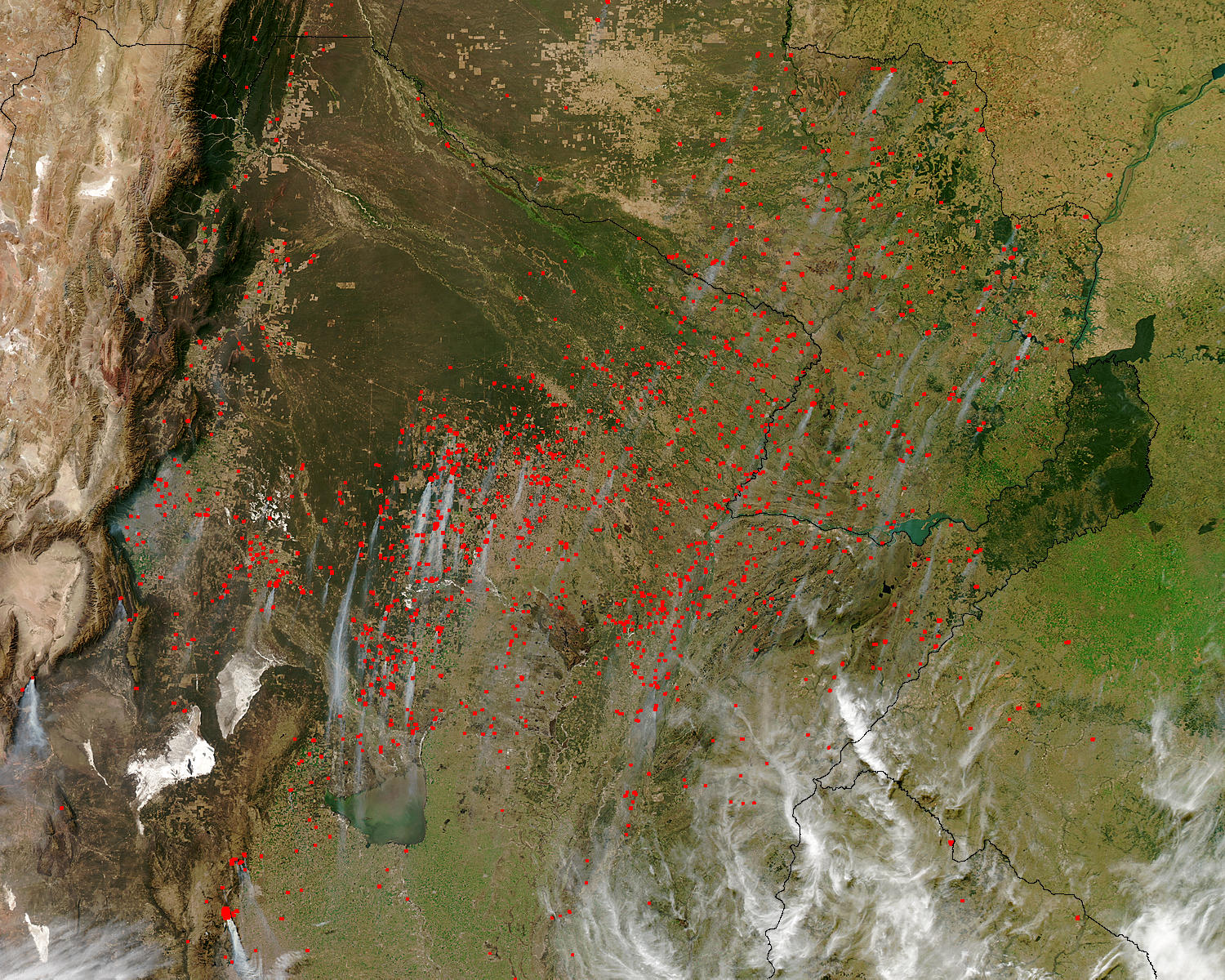 Fires across Paraguay and Northern Argentina - related image preview