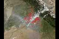 Fires and smoke in Northwest India