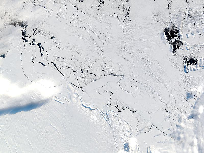 C-19 icebergs trapped in the ice off Mawson Peninsula, Antarctica - related image preview