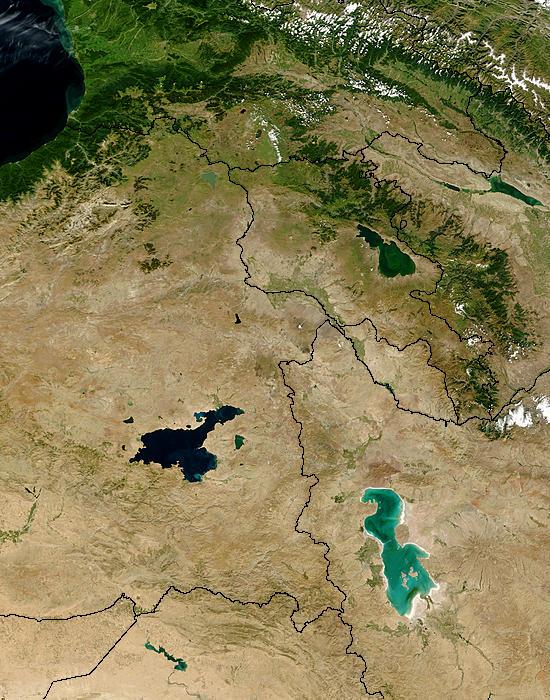 Lake Van (Turkey) and Lake Urmia (Iran) - related image preview