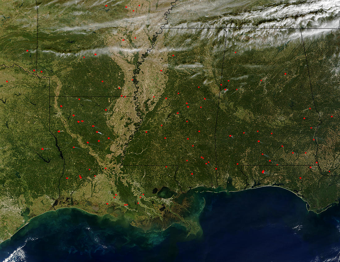 Fires across Southern United States - related image preview