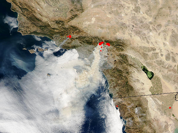 Grand Prix Fire and Piru Fire near Los Angeles - related image preview