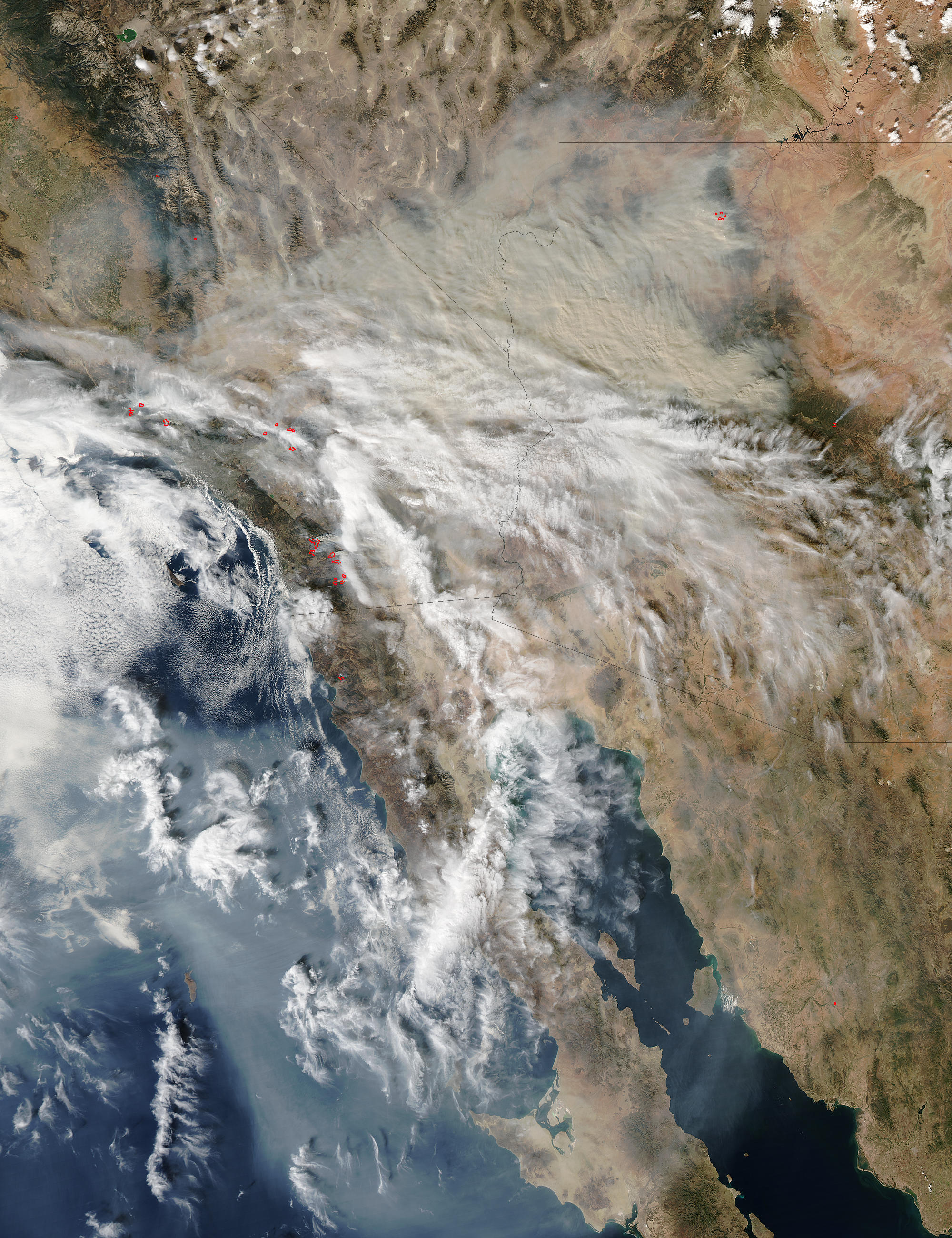 Smoke from California fires across Southwest United States - related image preview