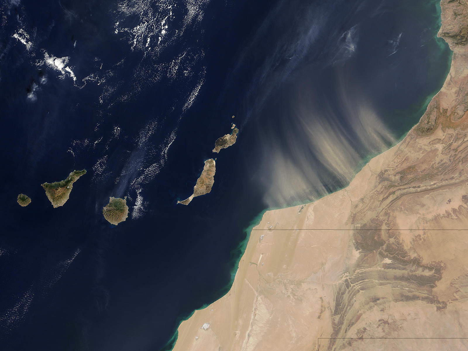 Dust storm off the coast of Morocco - related image preview