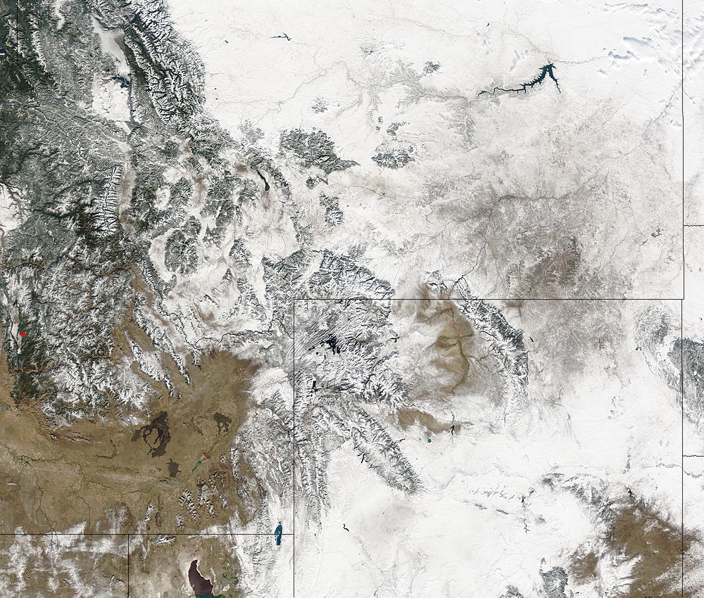 Snow in the northern Rockies and Great Plains - related image preview