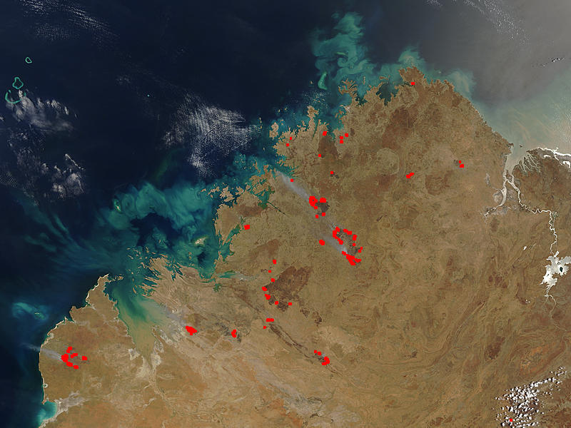 Fires and burn scars in northern Western Australia - related image preview