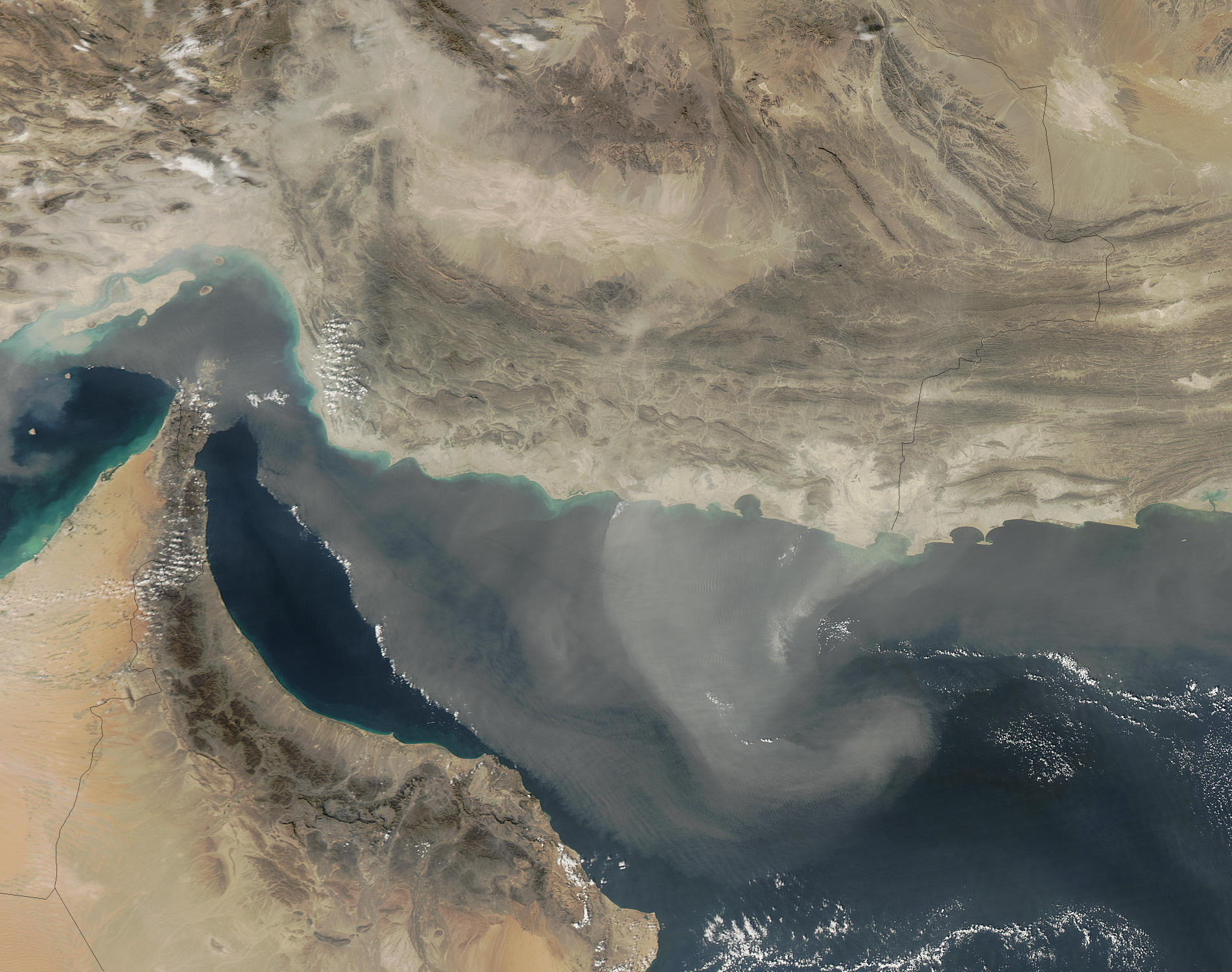 Dust storm in the Gulf of Oman - related image preview