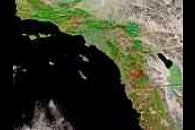 Burn scars in southern California