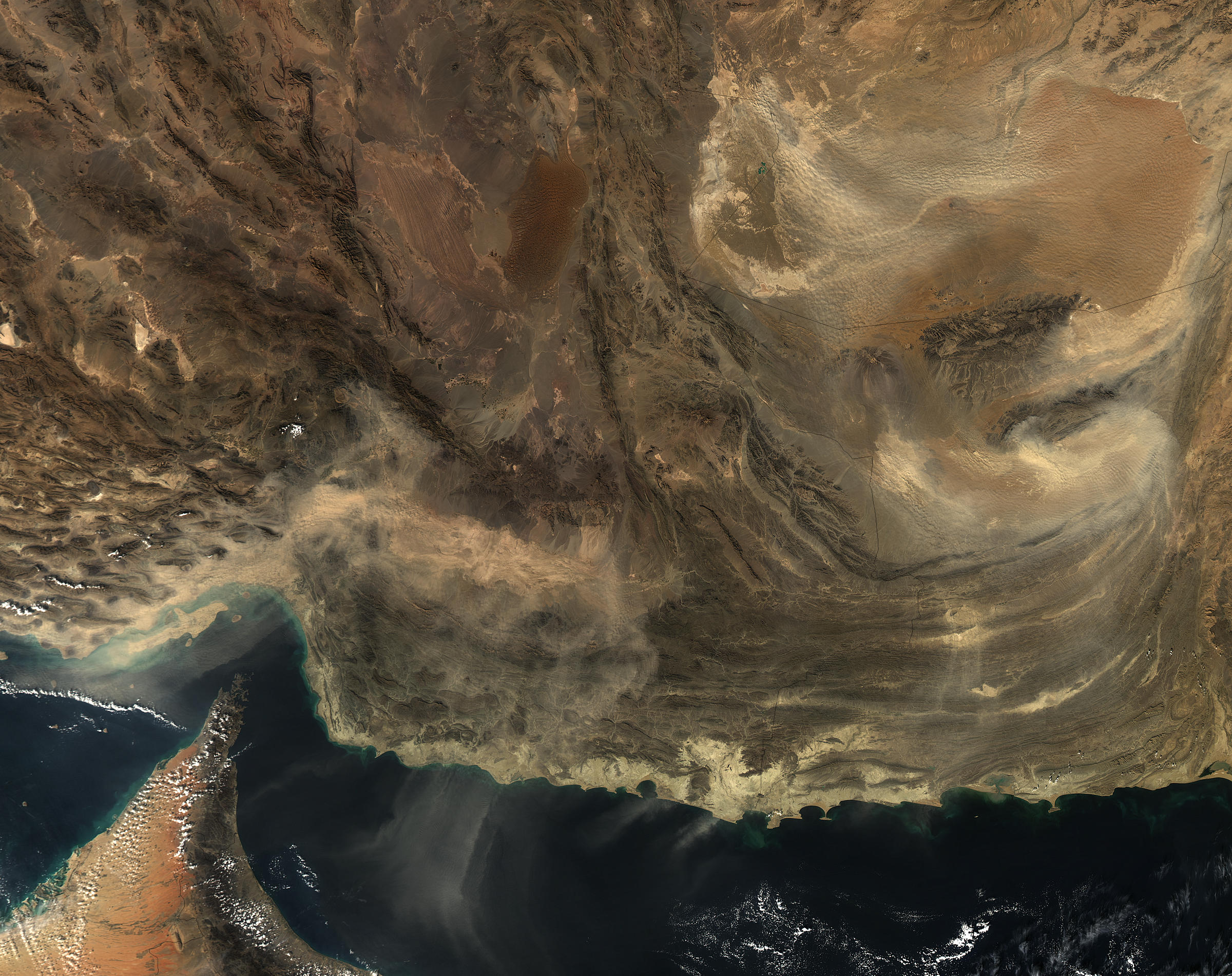 Dust storms in southwest Asia - related image preview