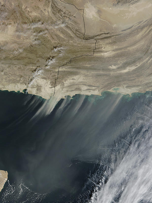 Dust storm off Pakistan - related image preview