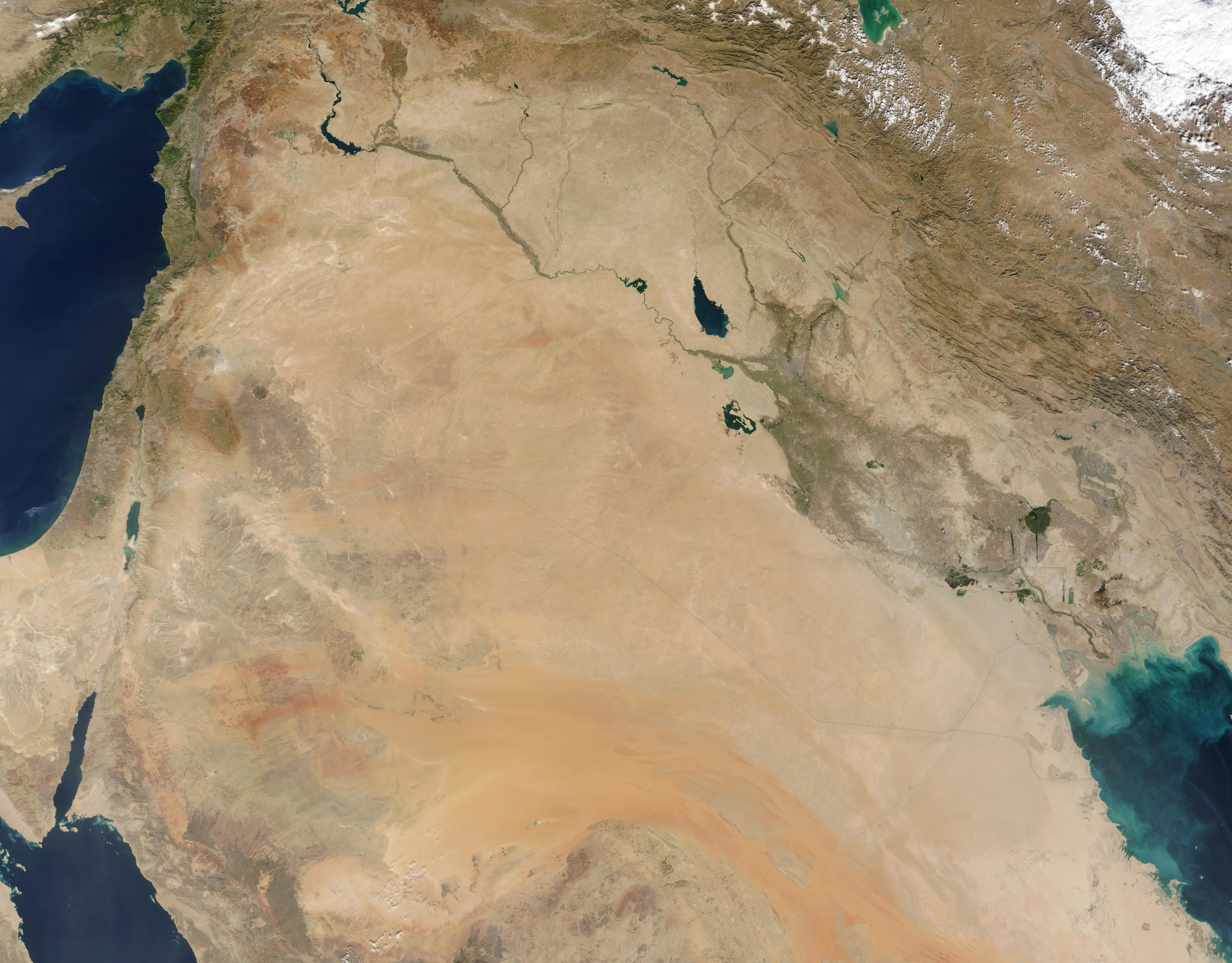 NASA Visible Earth The Middle East