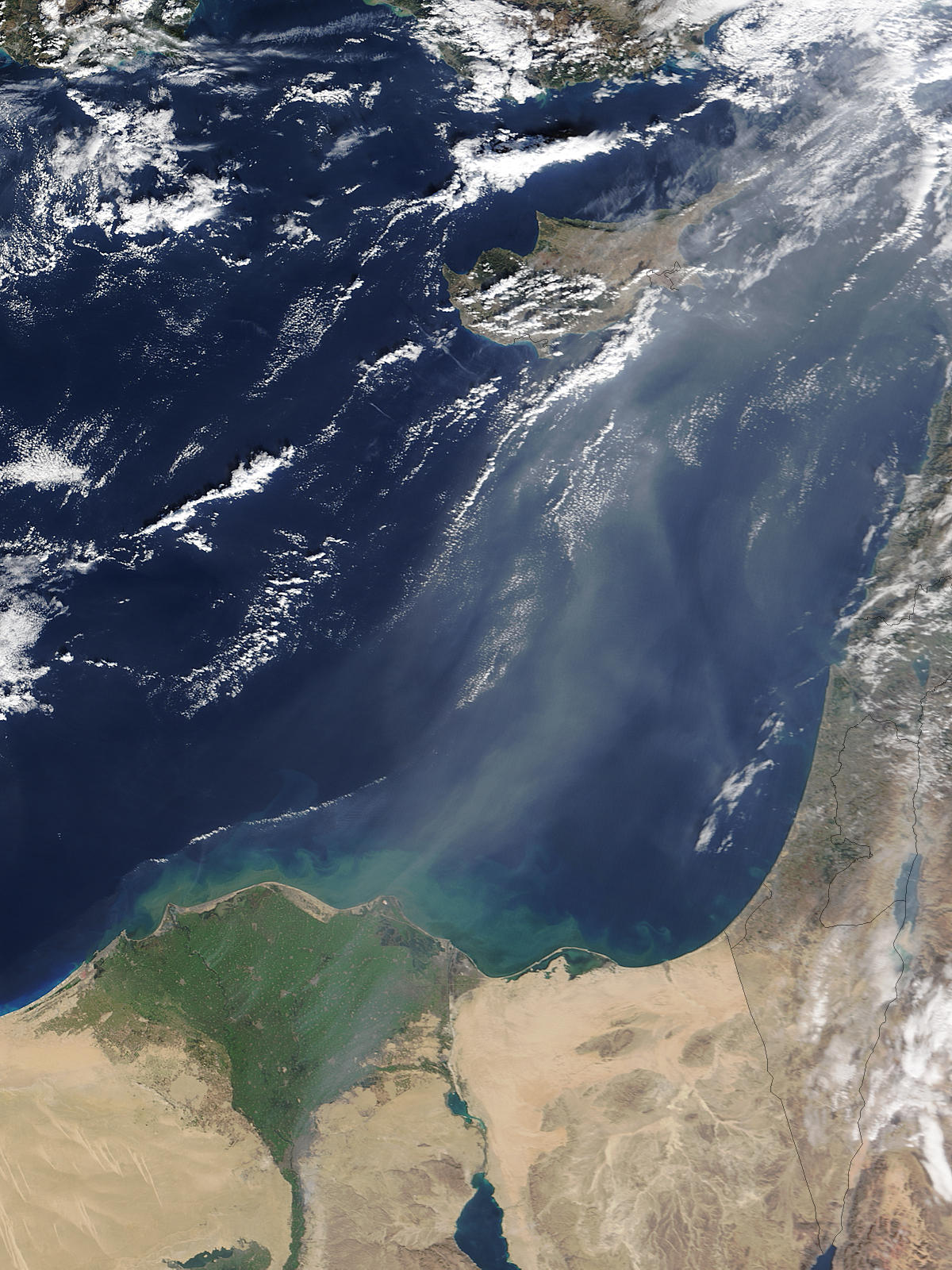 Smoke across the eastern Mediterranean Sea - related image preview