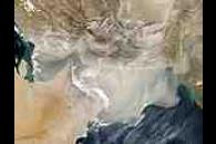 Dust storm over the Arabian Sea and the Persian Gulf