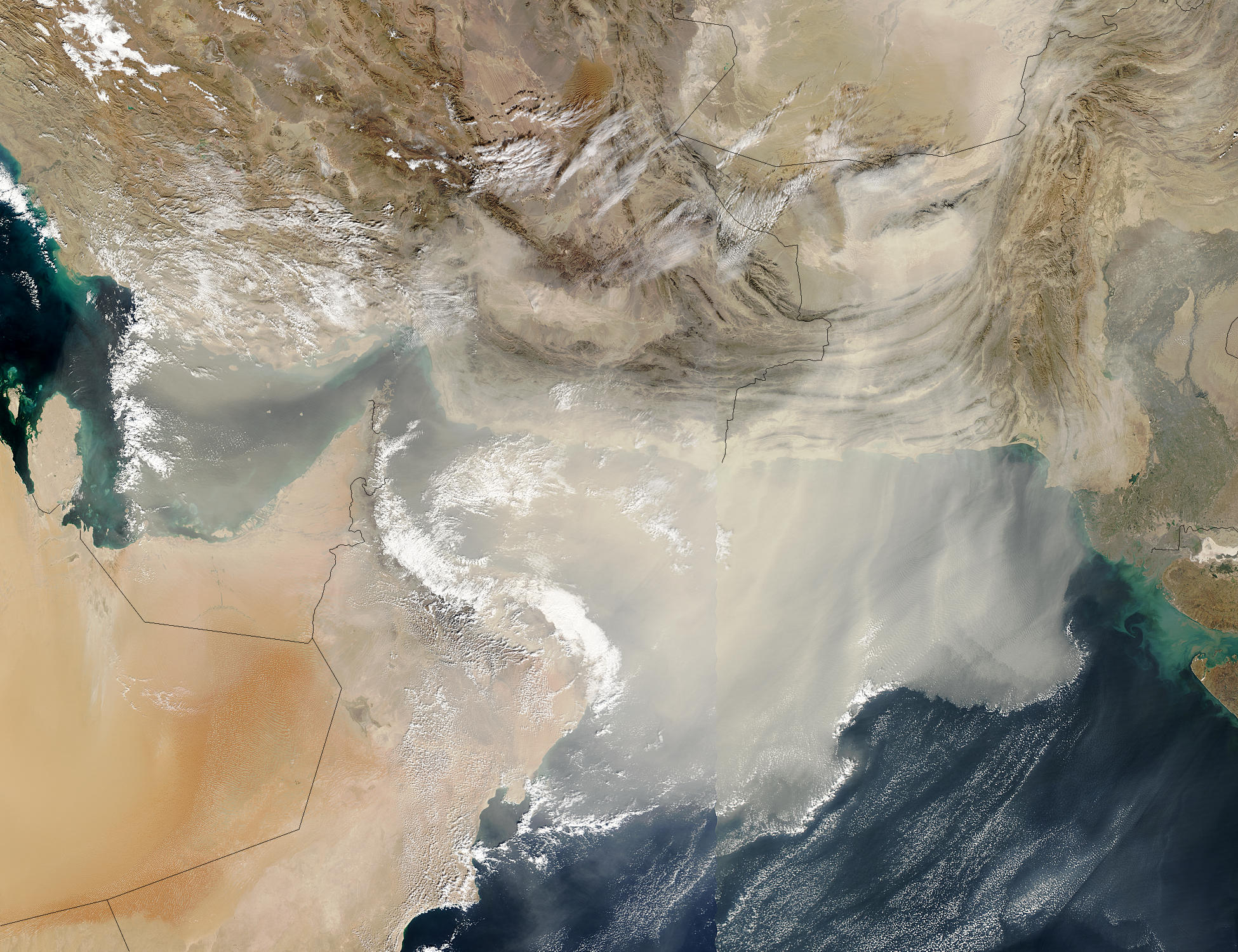 Dust storm over the Arabian Sea and the Persian Gulf - related image preview