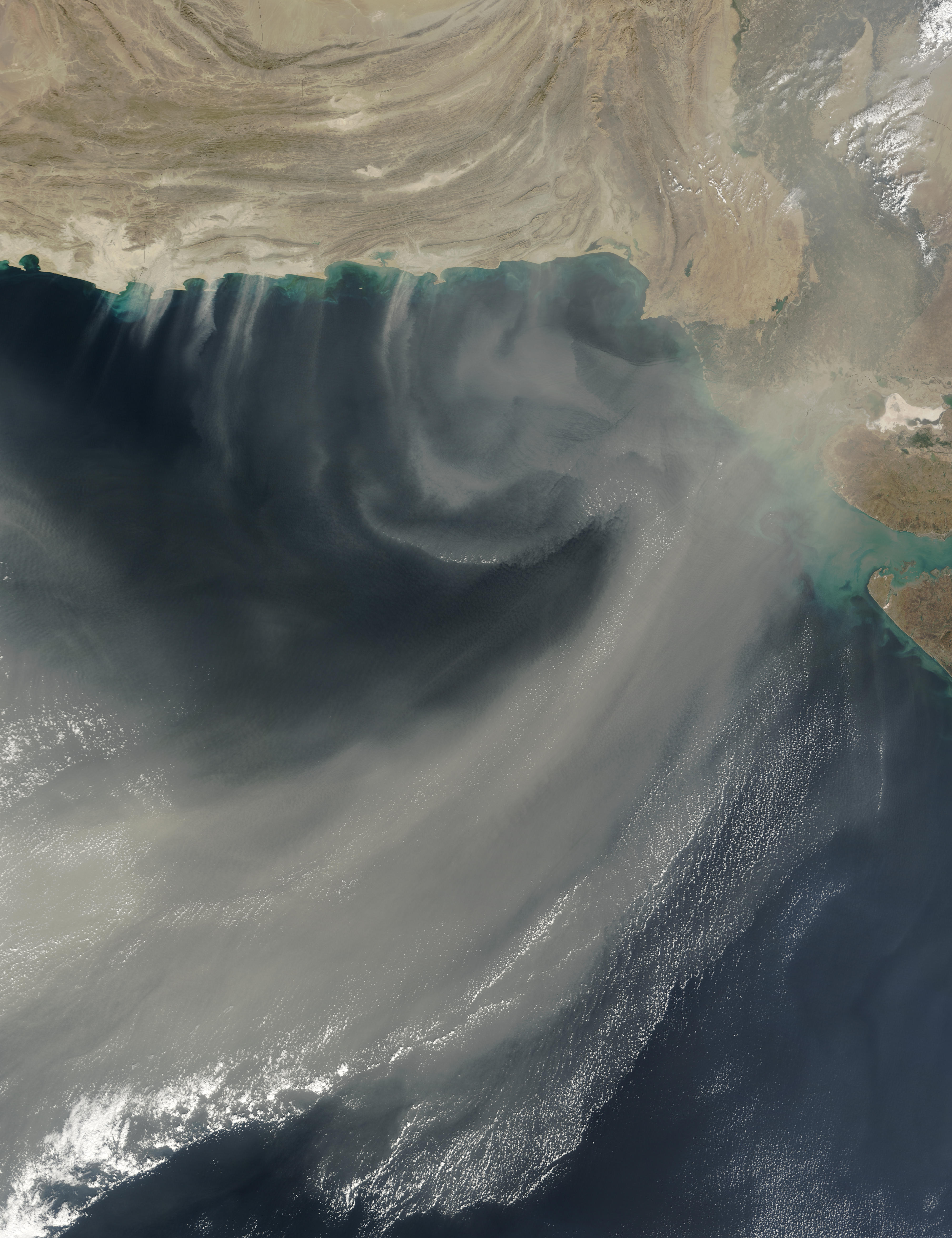 Dust over the Arabian Sea - related image preview
