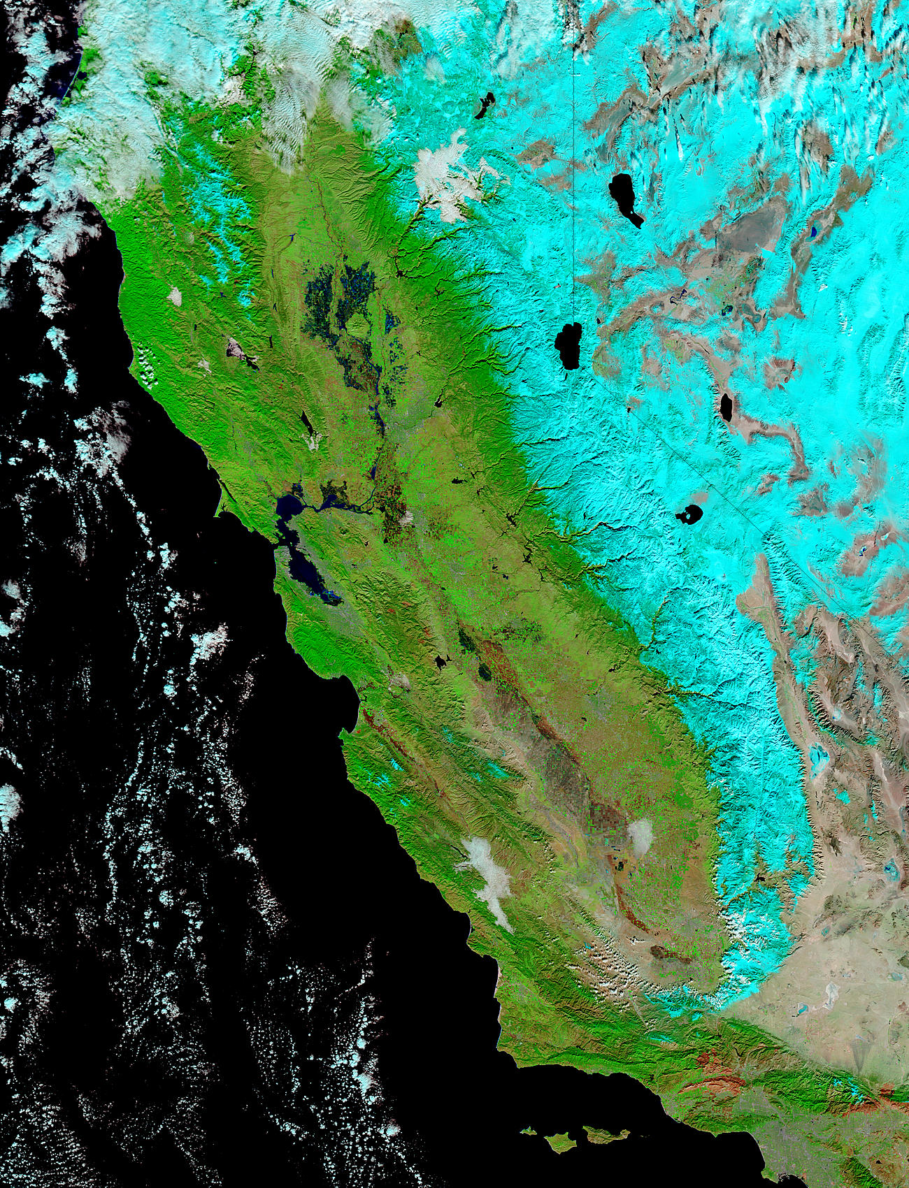 Floods in California (false color) - related image preview