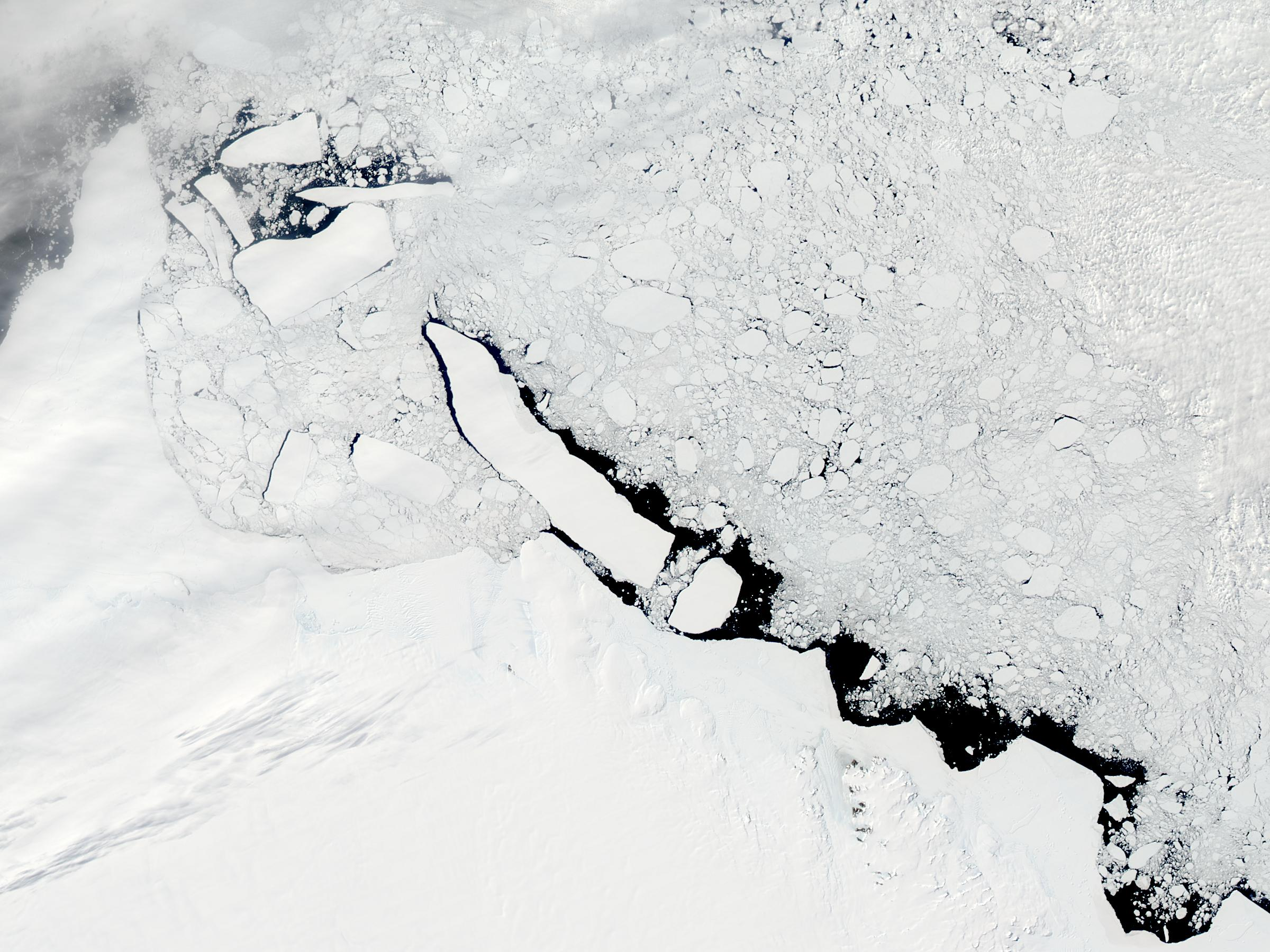 C-19 icebergs off Mawson Peninsula, Antarctica - related image preview