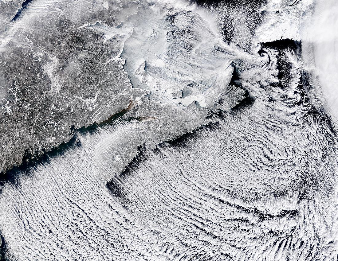 Cloud streets off Nova Scotia, Canada - related image preview