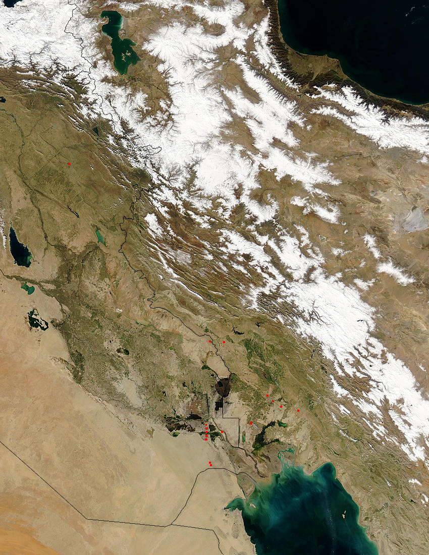 Snow in Iran, floods in Iraq - related image preview