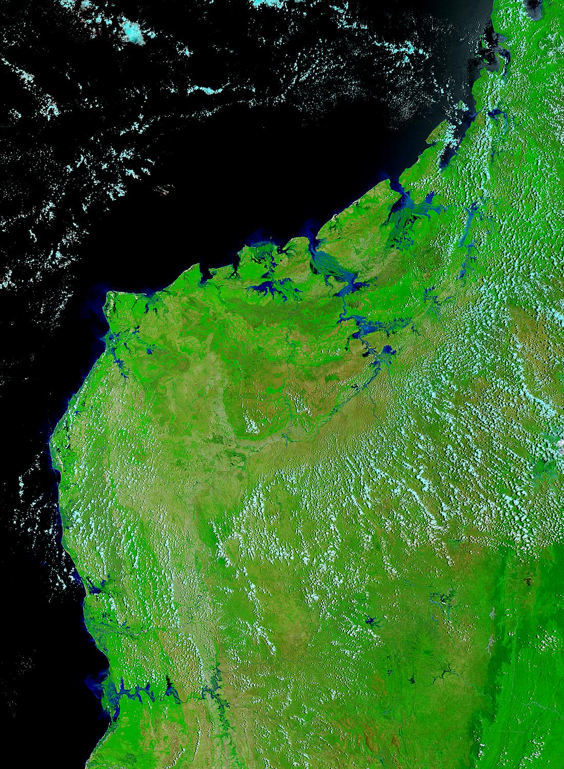 Floods in Madagascar (false color) - related image preview