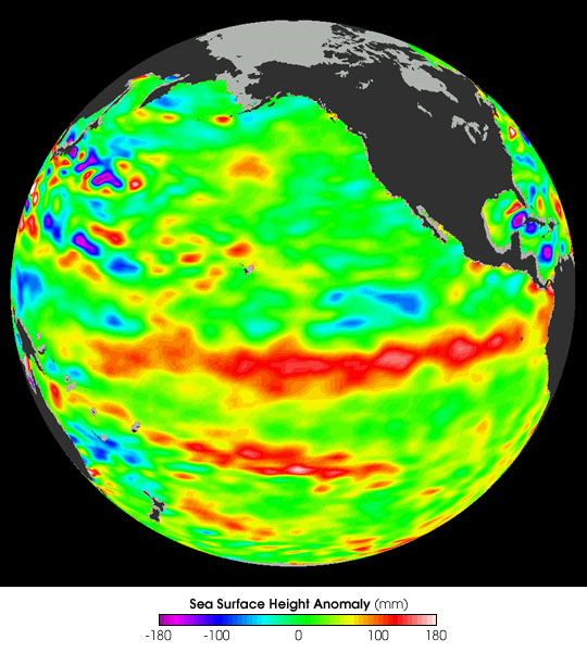 Jason Satellite Observes Mild El Nino in 2006
