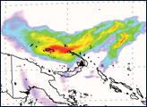 Sulfur Dioxide Cloud from Rabaul Volcano