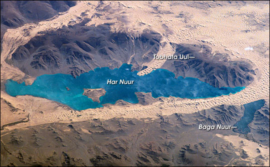 Sand Dunes in Har Nuur (Black Lake), Western Mongolia