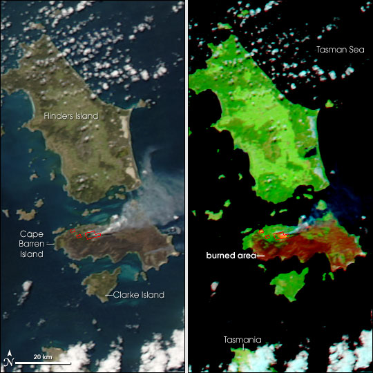 Fires Scorch Cape Barren Island