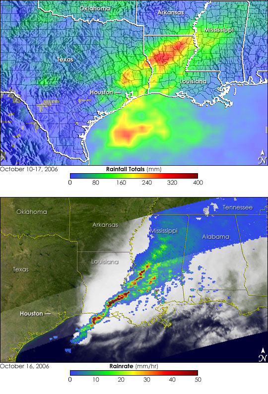Severe Thunderstorms over the Southeastern United States