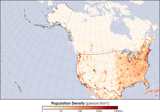 United States Population Density Image Of The Day - Us population map