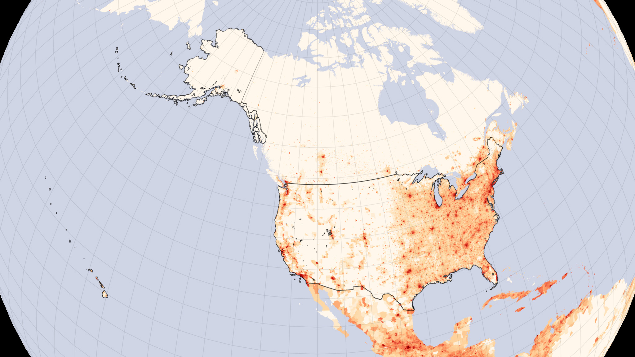 United States Population Density  Image Of The Day - Map of the us population density