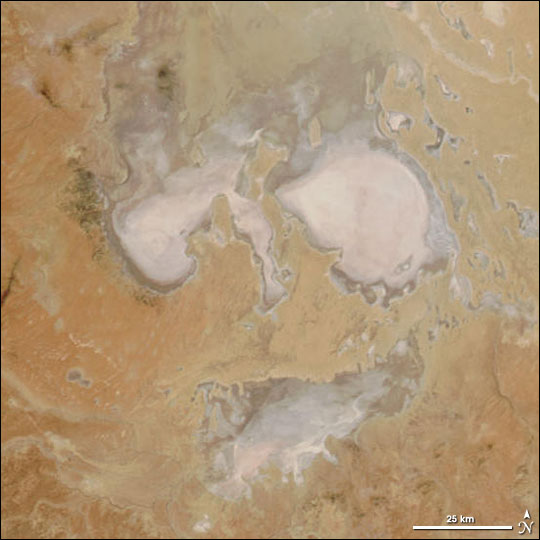 Ghostly Face In South Australian Desert