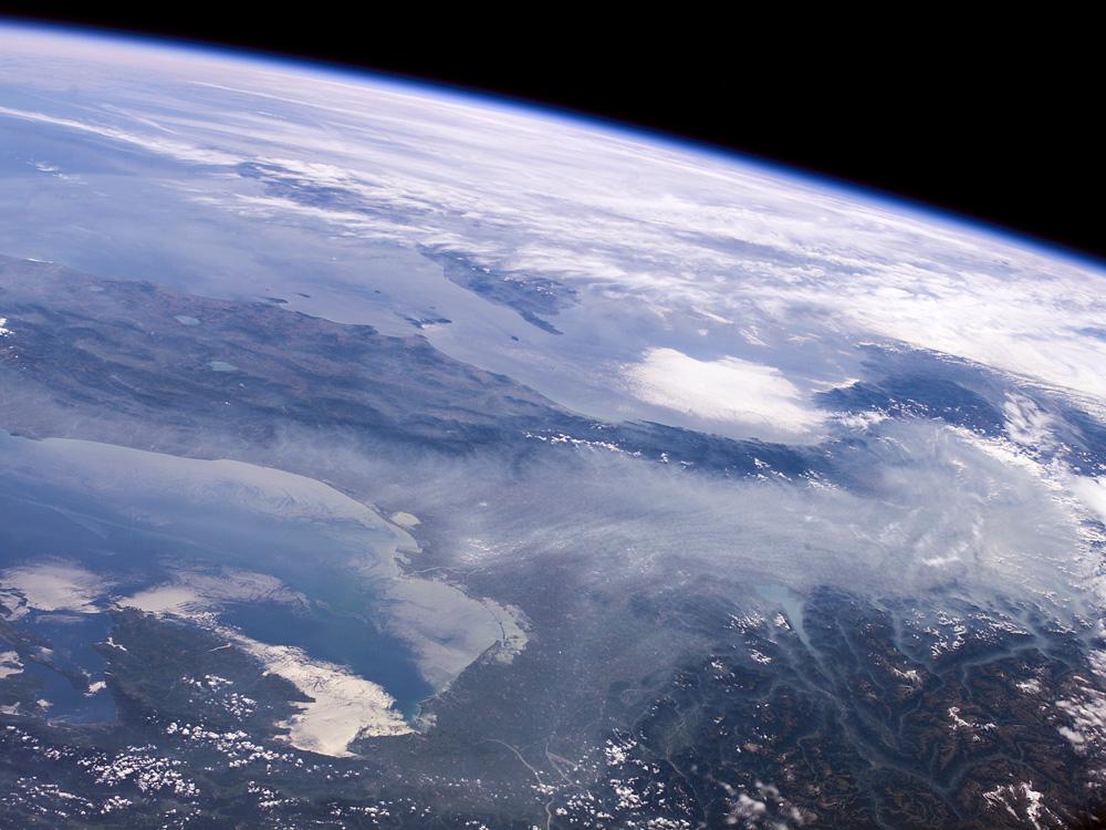 La plaine du Pô vue de l'espace