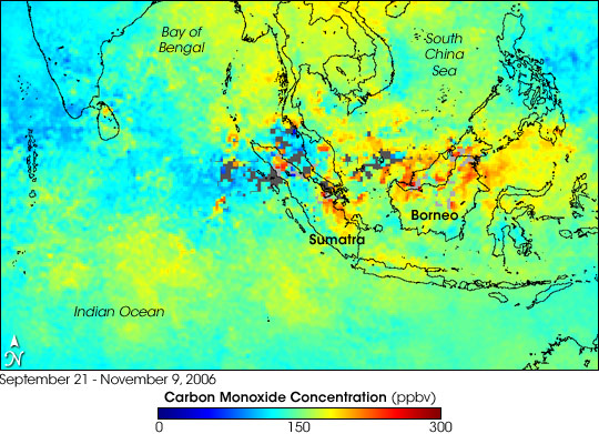 Carbon Monoxide over Borneo and Sumatra - related image preview