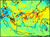 Carbon Monoxide over Borneo and Sumatra - selected image