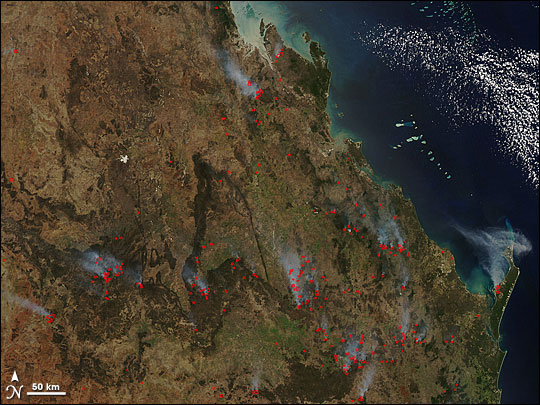 Fires in Southern Queensland