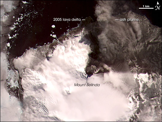 Volcanic Activity on Montagu Island
