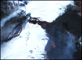 Lava Flow on Mount Etna
