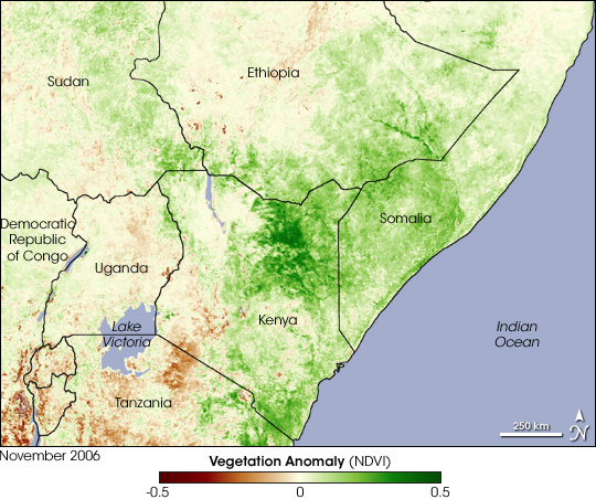 East Africa Greens Up from Heavy Rains