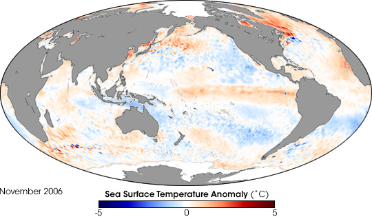 El Nino Chills the Western Pacific Ocean