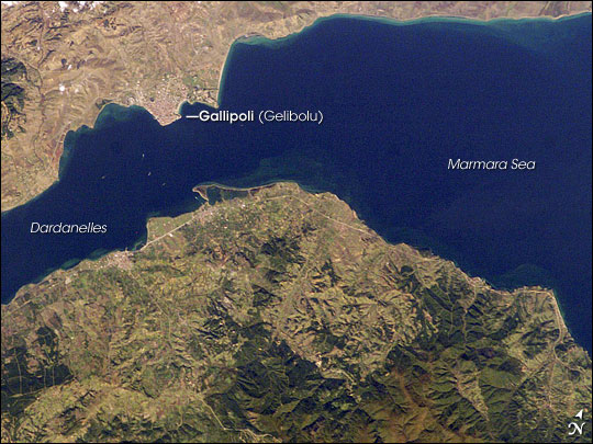 Gallipoli and Dardanelles Strait, Turkey