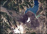 Cerro Antuco and Laguna de Laja, Chile
