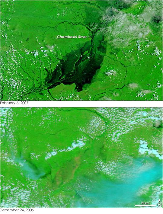 Chambeshi River Floods, Zambia