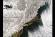 Snow over the Northeastern United States