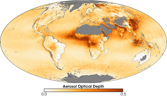 Aerosol Optical Depth in 2006